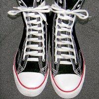виды шнуровки лесенка