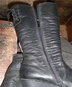 Замена молнии на обуви