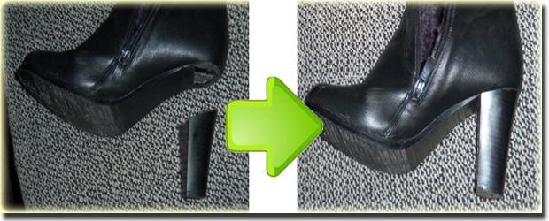 Правильно укрепить каблук