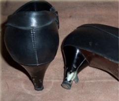 Перетяжка каблуков кожей