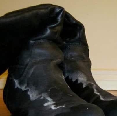 соль на обуви