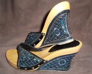 обувь с ткани