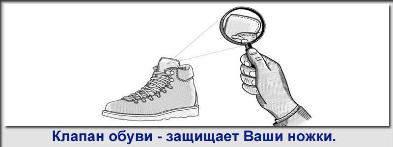 клапан обуви
