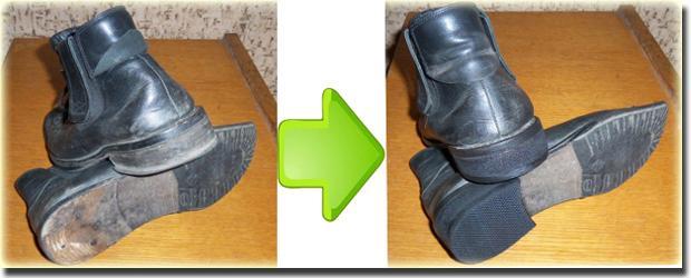 Ремонт каблуков на мужской обуви своими руками