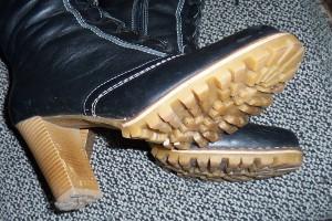 не скользкая обувь