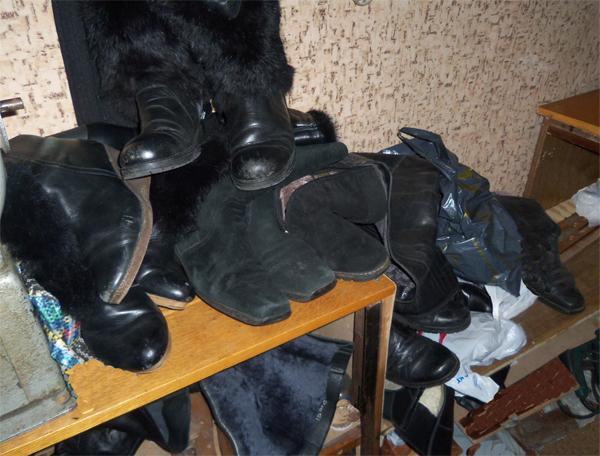 выполненный ремонт обуви