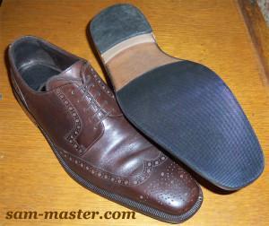 обувь с кожаной подошвой
