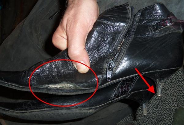 латка на обуви